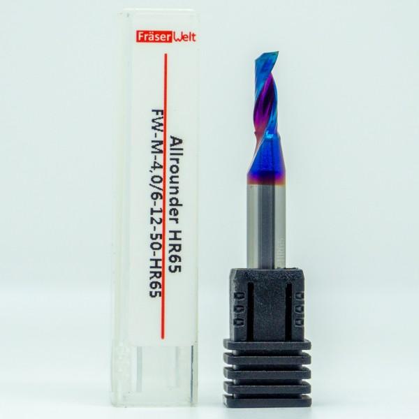 VHM Einzahnfräser TiAIN-Bschichtung HR65